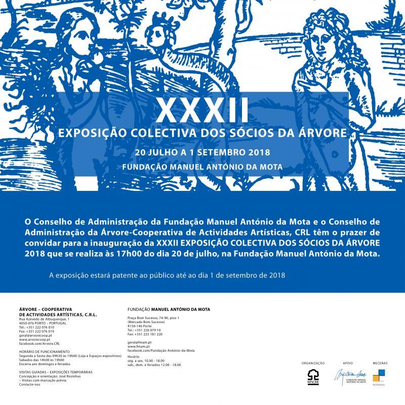 Inauguração da XXXII Exposição Colectiva dos Sócios da Cooperativa Árvore 2018