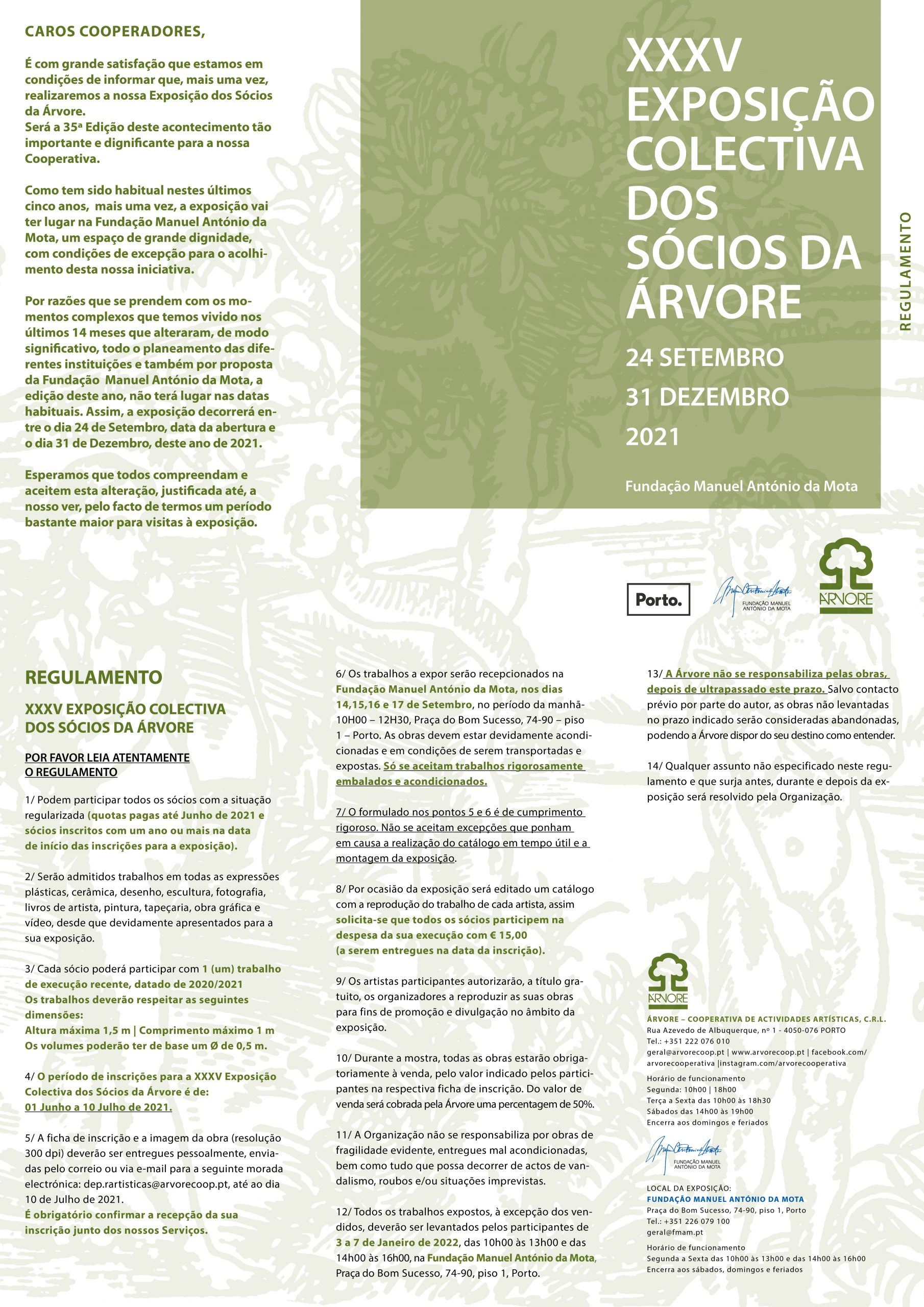 XXXV Exposição Colectiva dos Sócios da Árvore